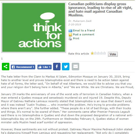 Think for Actions website